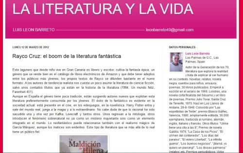 LMdH en 'La literatura y la vida'
