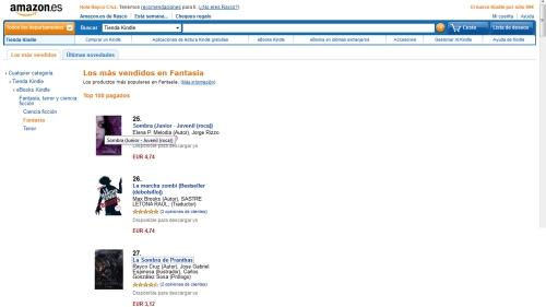 La sombra de Pranthas entre los más vendidos Amazon.es